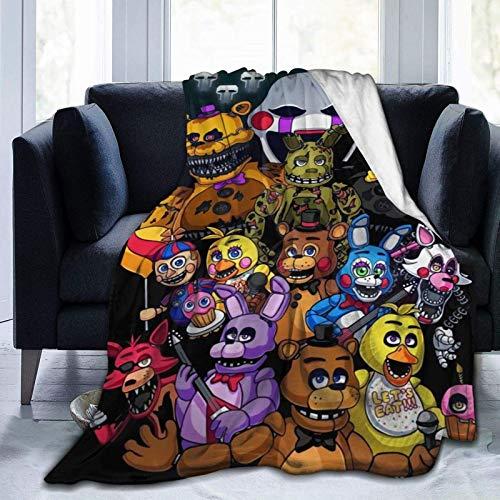 Five Nights at Freddy - Manta de forro polar ultra suave para sofá o cama manta cálida