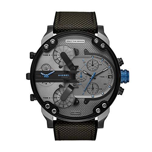 Diesel Herren Analog Quarz Uhr mit Nylon Armband DZ7420