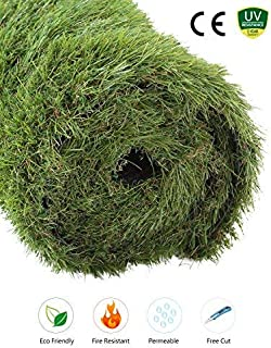 GOLDEN MOON Outdoor Turf Rug Premium Artificial Grass Mat Realistic & Soft Series Green (3'x5'= 15 sq ft, 1.7