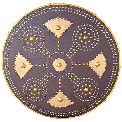 Swordsaxe Scottish Culloden Targe Celtic Warrior Medieval Shield Handmade Hardwood Leather Wrapped