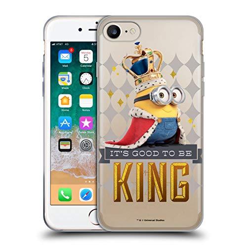 Head Case Designs Oficial Minions King Bob Minion British Invasion Carcasa de Gel de Silicona Compatible con Apple iPhone 7 / iPhone 8 / iPhone SE 2020