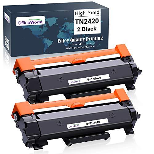 OfficeWorld TN2420 TN2410 Kompatibel Toner Patronen für Brother TN-2420 TN-2410 für Brother MFC-L2710DW MFC-L2710DN HL-L2350DW HL-L2375DW MFC-L2750DW HL-L2310D DCP-L2530DW MFC-L2730DW (2 Schwarz)