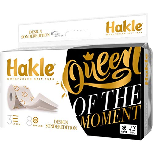 Hakle Toilettenpapier Edition Queen of the Moment 3lg. 8x150Bl. (8x150 Bl.)