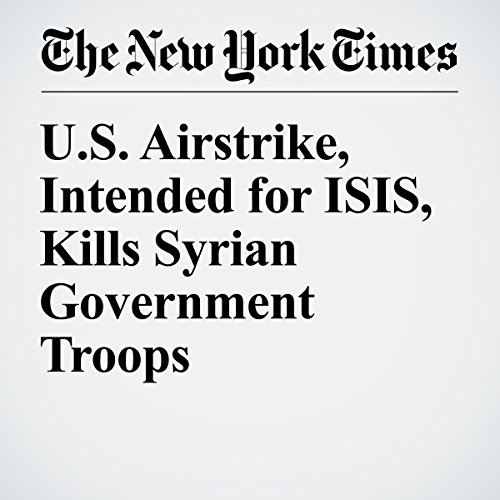 U.S. Airstrike, Intended for ISIS, Kills Syrian Government Troops audiobook cover art
