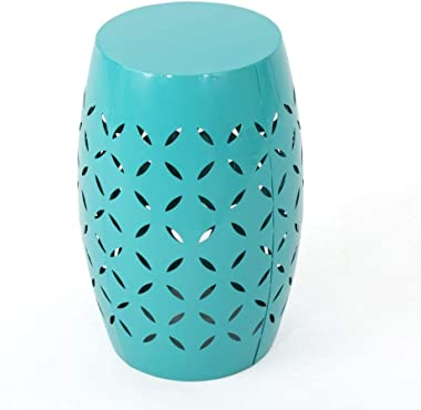 """Christopher Knight Home Lilac Outdoor 12"""" Iron Side Table, Teal"""