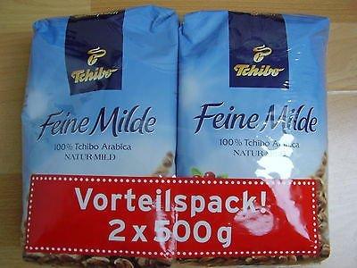 Tchibo Feine Milde Ganze Bohne Vorteilspack 2x500g
