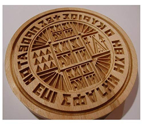 GRECIAN Stamp For The Holy Bread Orthodox Liturgy/Wooden Hand Carved Traditional Prosphora *GREEK* #40 (Diameter: 3.15-7.87 inches / 80-200 mm)