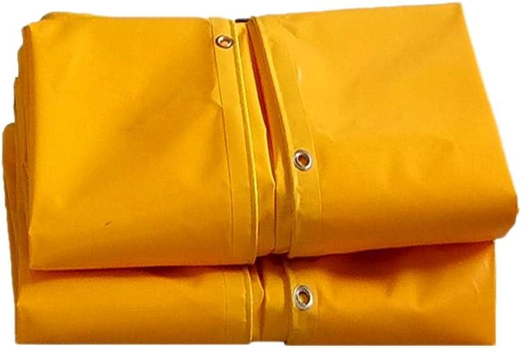 PIAOLING Bache imperméable Bache imperméable de Parasol, bache en Plastique de grattoir de Couteau de bache de Couteau de bache de Pluie de Camion, Jaune, 2  2 mètres Durable (Taille   3  4M)