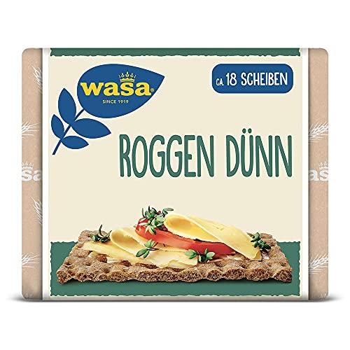 Wasa Knäckebrot Roggen Dünn, 12er Pack (12 x 205g)