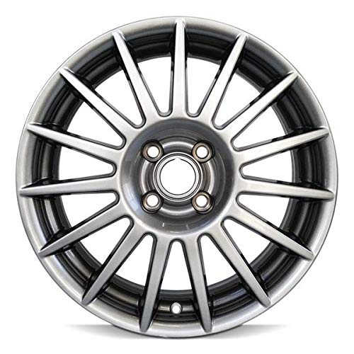 Road Ready Car Wheel For 2002-2011 Ford Focus 17 Inch 4 Lug Silver Aluminum Rim Fits R17 Tire - Exact OEM Replacement - Full-Size Spare