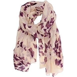 Butterfly Lady Women Fashion Stylish Soft Scarf Shawl Neck Wrap Headscarf Stole (Butterfly Purple)