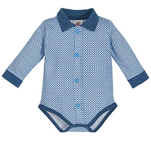 Makoma MAKOMA Baby Body-Hemd Langarm Größe 68 74 80 86 92 (74, blau-2)