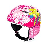 BeBeFun Toddler and Child ski Skate Helmet 50-53cm Small Size ASTM-2040 Standard for 2-6 Years Toddler Kids. (Pink, S(50-53cm))