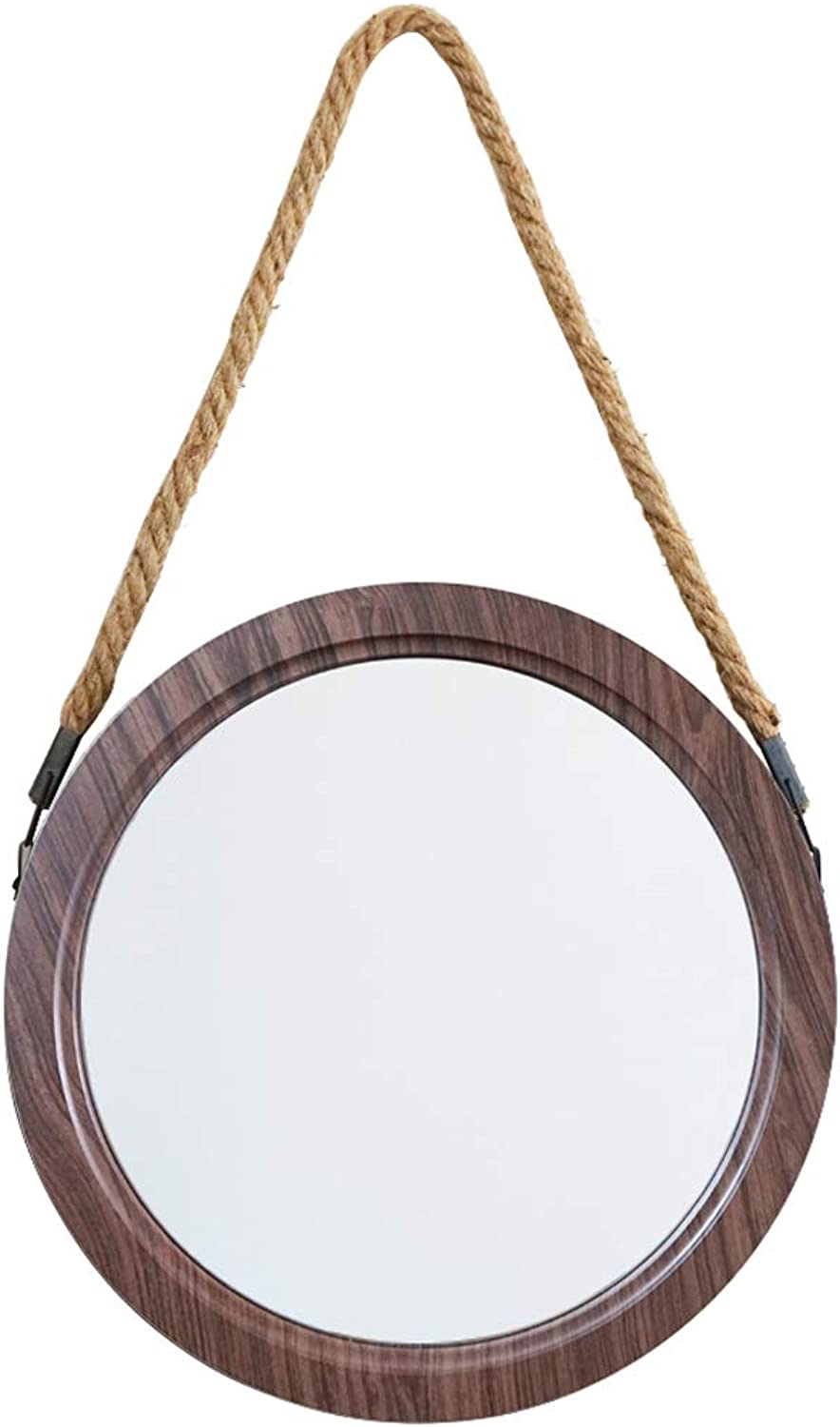 Hanging Mirror with Chain Makeup Mirror Round Wall Mirror Bathroom Shaving Mirror Bedroom Decoration