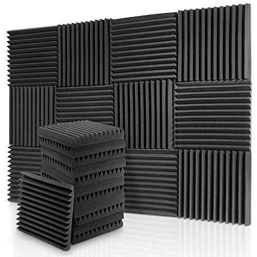 Donner Paneles Acústicos Espuma Acústica, 30 x 30 x 5 cm, 12 Piezas, Aislante Acústico para Estudios, Estudios de Grabación, Oficinas, Sala Acústica, Insonorizacion acustica pared
