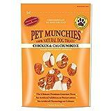 Pet Munchies Pollos Envuelto Calcio Huesos 100 g, Pack de 8
