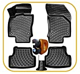 Trimak Alfombrillas de goma 3D compatibles con VW Golf 7 & Golf 7 Variant (2012 – 2020) con borde alto