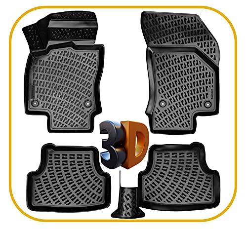 Trimak Automatten 3D Gummimatten Fußmatten kompatibel mit VW Golf 7 & Golf 7 Variant (2012-2020) passgenaue mit hohem Rand
