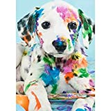 5D Diamond Painting Full Drill Kits Dog Rhinestone Arts Craft for Adults and Kids Crystal Home Wall Décor 12x16 Inch