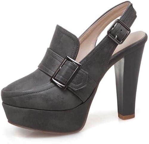 GLTER Les Les Femmes Plate-Forme Sandales 2019 Printemps été Nouvelle Mode Boucle Slingback Super Haut-Talon Chaussures Grande Taille 40-50  commander maintenant les prix les plus bas