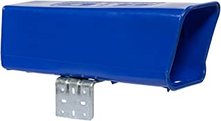 Plastic Newspaper Delivery Tube Box Receptacle & Mounting Bracket, Blue