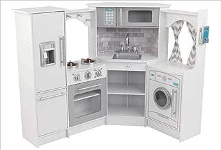KidKraft Ultimate Corner Play Kitchen Set, White, exclusive (Amazon Exclusive) (Renewed)