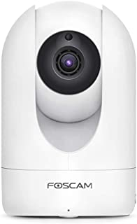 Foscam Home Security Camera R4S 4MP(2K) WiFi IP Camera, 2.4/5GHz Wireless Camera Baby Monitor with AI Human Detection & Sound Detection, 33ft Night Vision, 2-Way Audio,Works with Alexa (Frosted White)