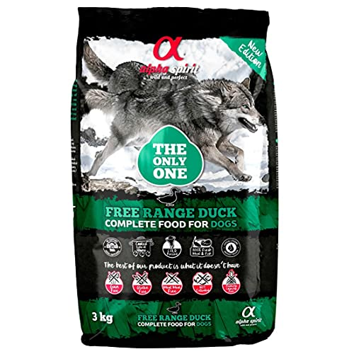 ALPHA The Only One Spirit Canine Adult Pato 3KG, Negro, Mediano, 3000