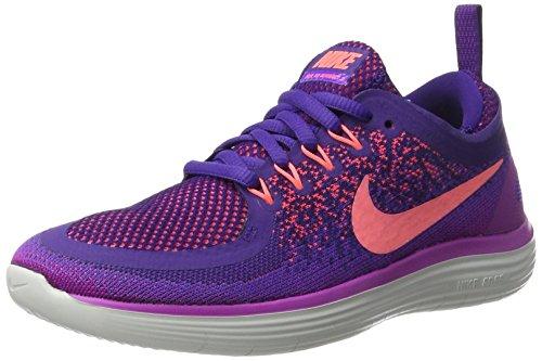 Nike Free Run Distance 2, Zapatillas de Entrenamiento para Mujer, Morado (Hyper Grape/Lava Glow-Court Purple-Hot P), 36.5 EU
