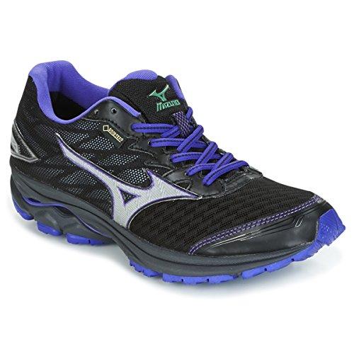 Mizuno Women Wave Rider 20 GTX Neutral Running Shoe Running Shoes Black - Violet 4,5