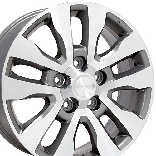 OE Wheels LLC 20 Inch Fits Lexus LX470 LX570 Toyota Land Cruiser Sequoia Tundra Tundra Style TY11 Silver Machined 20x8 Rim Hollander 69533