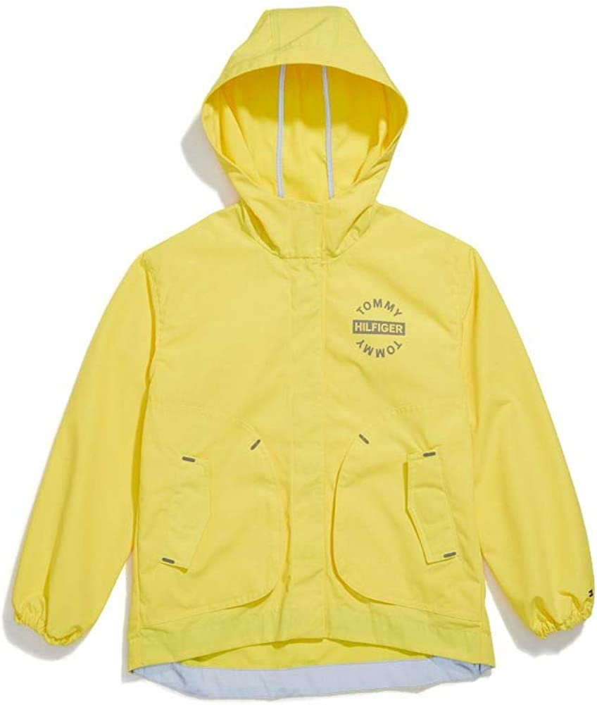 Tommy Hilfiger Girls' Adaptive Hooded Jacket with Magnetic Buttons