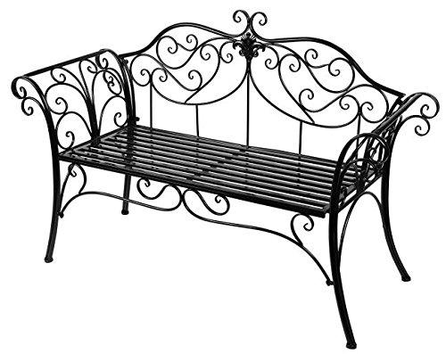 HLCガーデンベンチ アイアン パークベンチ ガーデンマスター スチールベンチ ブラック系