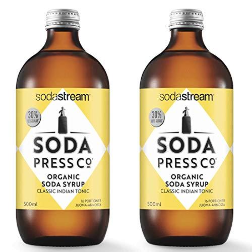 Soda Press Organic Classic Indian Tonic Flavor Mix for SodaStream, 16.9 Fl Oz, 2 Pk