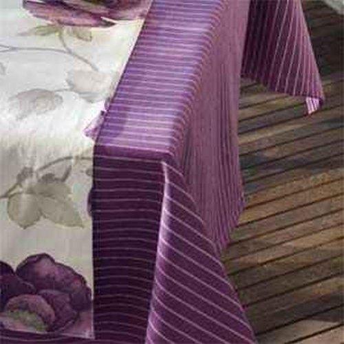 Sun Garden 10121067 20461-35 tafelkleed 160 x 210 dessin strepen paars
