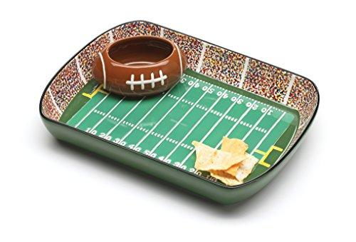Football Ceramic Chip And Dip Stadium