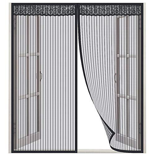 Lictin Mosquitero Magnético para ventana - Dimensiones 130 x 150 CM, adecuado para ventanas de 130 cm ( Negro)