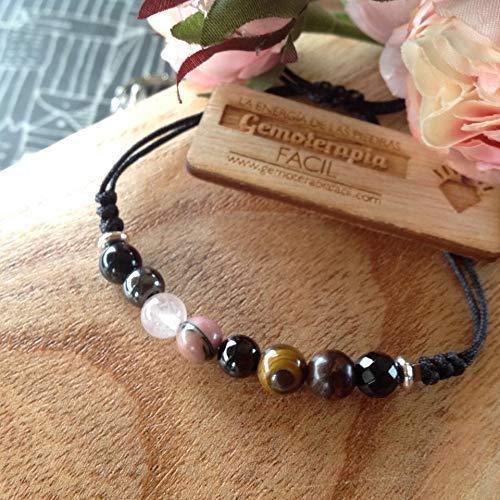 Pulsera PROTECCIÓN super 8, turmalina negra, broncita,cuarzo8 piedras semipreciosas, potenente talismán protector, amuleto de sabiduria