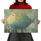 Große Fische Kleines Haus Kraftpapier Poster Kinder