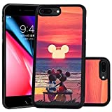DISNEY COLLECTION Mickey Mouse Sunset Design for Apple iPhone 7 Plus (2016)/iPhone 8 Plus (2017) 5.5-inch Case Soft TPU and PC Tired Case Retro Stylish Classic Cover