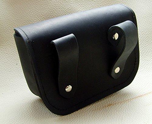 Gürteltasche kleiner Thors Hammer Leder Farbe schwarz - 4
