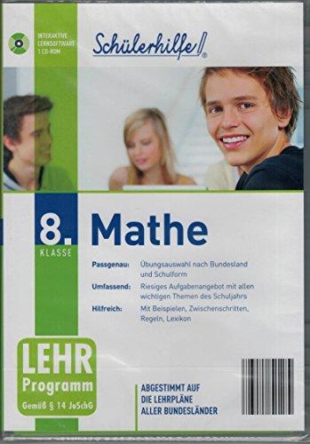 Schülerhilfe! ~Mathe ~ Klasse 8~ Die interaktive Lernsoftware für bessere Zeugnisnoten! ~ Abgestimmt auf die Lehrpläne aller Bundesländer