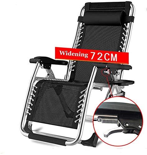 AGWa Gravity Chair Faltbare Einstellbare Reclining, Sessel mit Kopfstütze Lehnstuhl geeignet für Outdoor, Hof, Strand, Pool, Terrasse, Etc. Lounge Chair, E,D