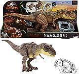 Figura ARTICULADA Dinosaurio Jurassic World T-Rex Pisa Y ATACA con Sonidos