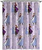 Jay Franco Disney Frozen Eiskönigin Duschvorhang und leicht zu pflegener Stoff Kinder-Badevorhang mit Elsa und Anna (offizielles Disney-Produkt)