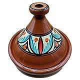 Tajine 1801201033 Ameublement Etnico Tajine en terre cuite, plat marocain 35 cm