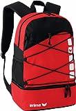 Erima Sac à Dos Multifonction avec Compartiment, 16litres Taille Unique Rouge - Rouge/Noir