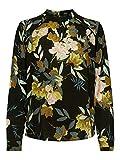ONLY Damen Onlnew Mallory Aop L/S Blouse Wvn Noos Bluse, Mehrfarbig (Black Aop: Faye Flower), 36 EU
