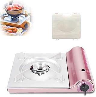 ガスコンロ、カセットコンロ、屋外携帯用家庭用カード、カセット、ガスコンロ、ガス鍋バーベキュー、屋外コンロ,ピンク