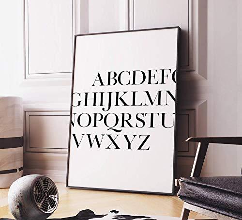 MG global Arte para imprimir del alfabeto ABC, impresión de tipografía, arte...